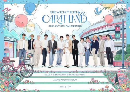 SEVENTEEN gelar fanmeeting bertajuk SEVENTEEN in CARAT LAND. (Foto: Pledis Entertainment)