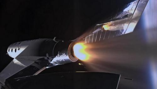 Pesawat luar angkasa Virgin Galactic.