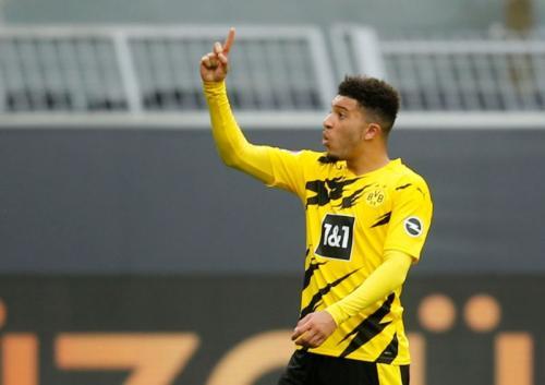Jadon Sancho tinggal selangkah lagi resmi jadi pemain Man United (Foto: Reuters)