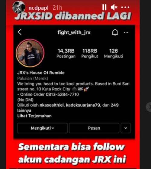Akun Instagram Jerinx