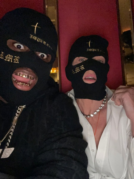 Sharon Stone dan rapper RMR. (Foto: Page Six)