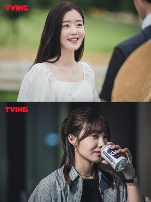 Han Sun Hwa dan Jung Eun Ji dalam City Girl Drinkers. (Foto: TVING)