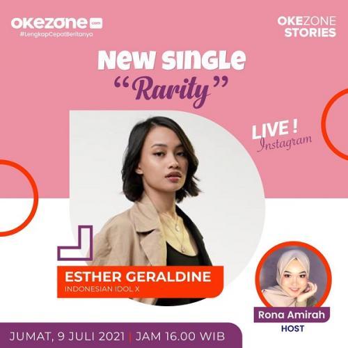 Esther Geraldine tampil di Live Instagram bersama Okezone.