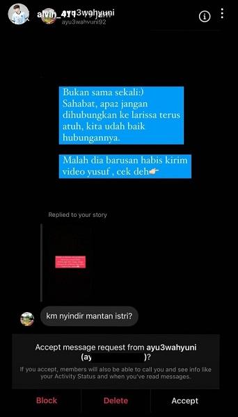 Alvin Faiz menjawab soal unggahannya yang dinilai menyingung sang mantan istri, Larissa Chou. (Foto: Instagram/@alvin_411)