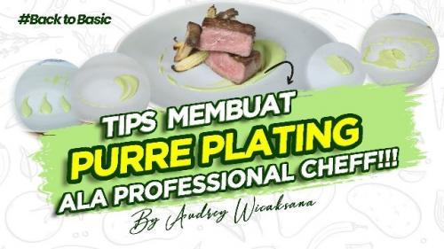 Tips membuat puree plating ala Chef Audrey Wicaksana. (Foto: YouTube Audrey Wicaksana)