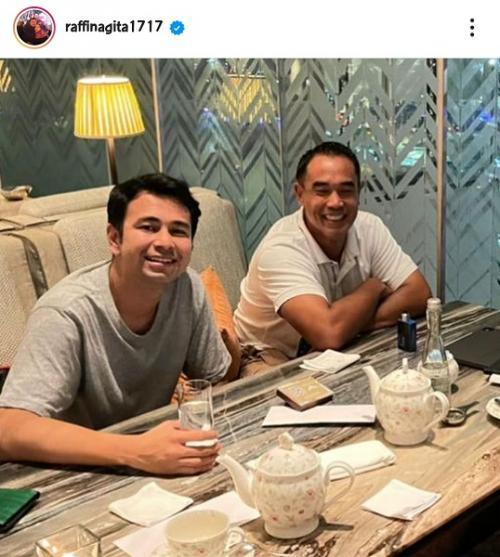 Raffi Ahmad berikan dukungan untuk Nia Ramadhani dan Ardi Bakrie. (Foto: Instagram/@raffinagita1717)