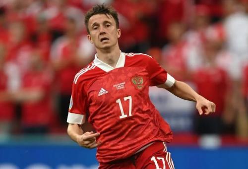 Aleksandr Golovin main buruk di Piala Eropa 2020 (Foto: Sportskeeda)