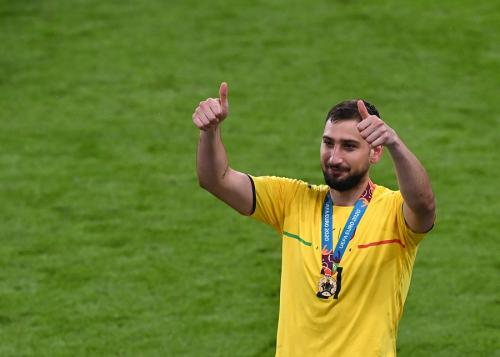 Gianluigi Donnarumma pahlawan Italia di final Piala Eropa 2020 (Foto: Reuters)