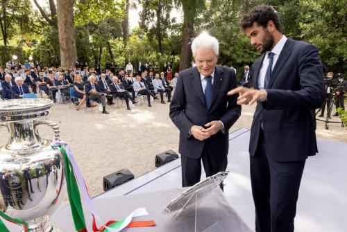Berrettini bersama Presiden Italia, Sergio Mattarella