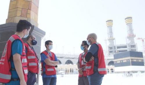 Relawan jamaah haji. (Foto: Arabnews)