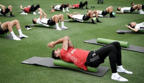 Sesi latihan Juventus bersama Allegri