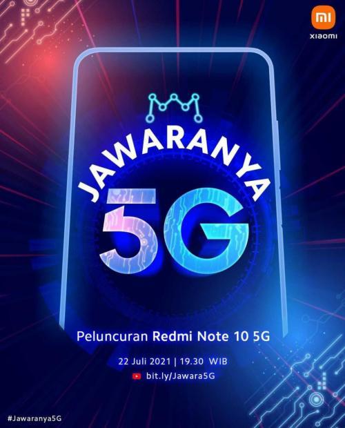 Redmi Note 10 5G Bakal Segera Dirilis di Indonesia