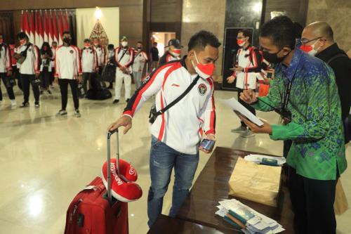 Rombongan besar Kontingen Indonesia berangkat ke Jepang (Foto: Tim Media CdM)