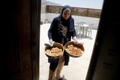 Warga Gaza, Palestina, siap merayakan Idul Adha. (Foto: Reuters)