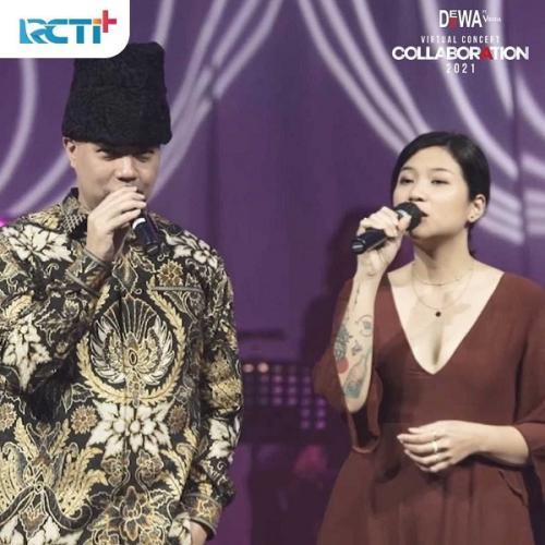 Konser virtual Dewa 19 ditayangkan RCTI+ pada Minggu (18/7/2021) malam. (Foto: RCTI+)
