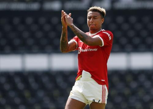 Jesse Lingard main saat Man United menang 2-1 atas Derby County (Foto: Reuters)
