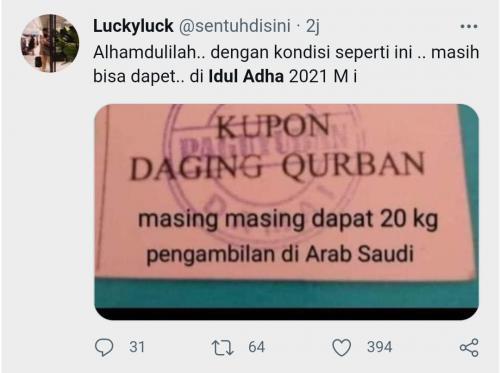 Kumpulan Meme Idul Adha Kocak di Twitter