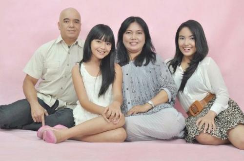 Amanda Manopo dan keluarga