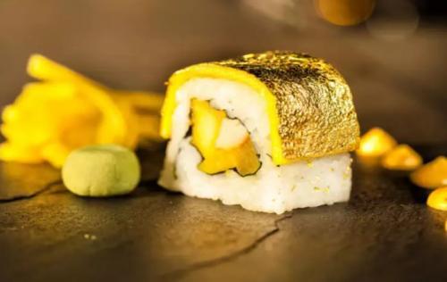 Sushi Berlapis Emas