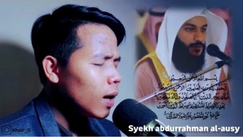 Viral ikhwan fasih tirukan suara mengaji imam-imam besar dunia. (Foto: YouTube Ahmad Khoir El)