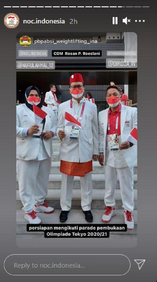 Parade atlet Indonesia di Olimpiade Tokyo 2020