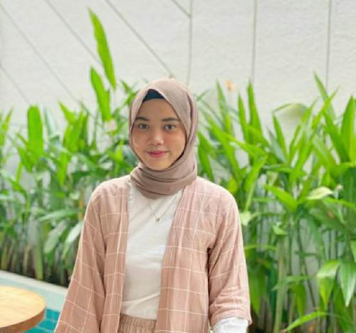 Jilbab pilihan hijaber Rosa. (Foto: Dok pribadi via MNC Portal)