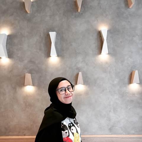 Jilbab pilihan hijaber Novie. (Foto: Dok pribadi via MNC Portal)