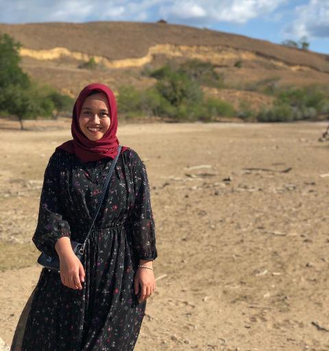 Jilbab pilihan hijaber Syifa. (Foto: Dok pribadi via MNC Portal)