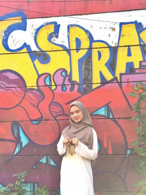 Jilbab pilihan hijaber Ica. (Foto: Dok pribadi via MNC Portal)