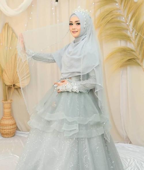 Gaun Pengantin Muslimah Syar'i