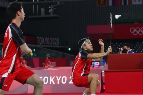Marcus Fernaldi Gideon/Kevin Sanjaya Sukamuljjo (Foto: Reuters)