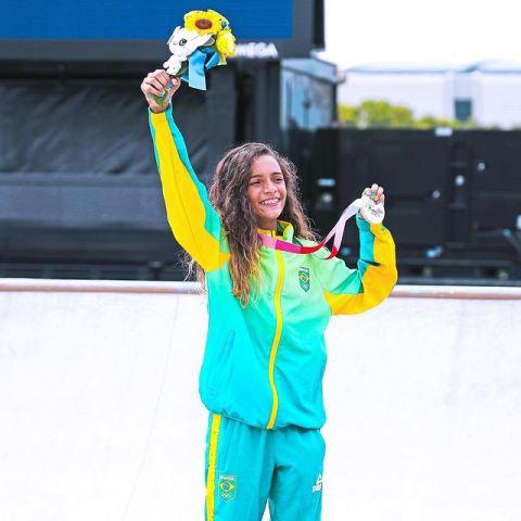 Atlet skateboard Rayssa Leal. (Foto: Instagram @rayssalealsk8)