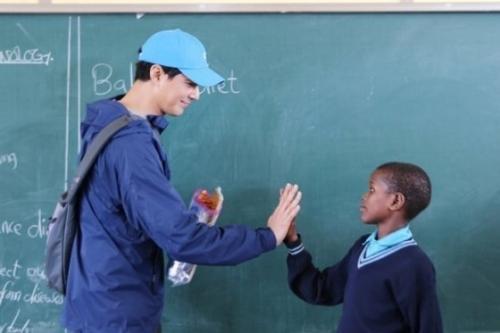 Jo In Sung donasikan dana Rp6 miliar untuk mendirikan sekolah di Tanzania, Afrika. (Foto: Milal Welfare Foundation)