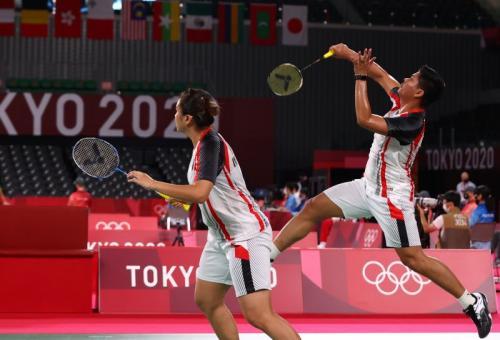 Praveen Jordan/Melati Daeva Oktavianti di Olimpaide Tokyo 2020a