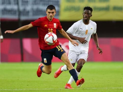 Suasana laga Timnas Spanyol U-23 vs Pantai Gading U-23 di Olimpiade Tokyo 2020