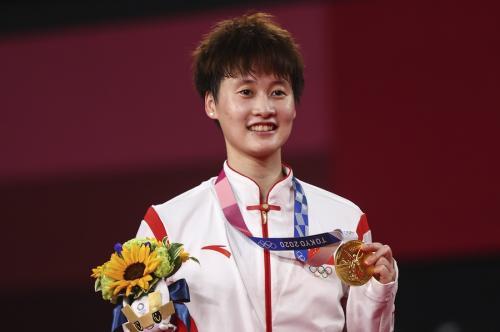 Chen Yufei peraih medali emas di tunggal putri bulu tangkis Olimpiade Tokyo 2020