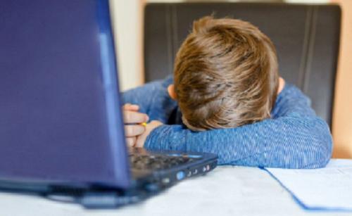 anak tak suka belajar online