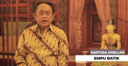 Santosa Doellah pendiri batik Danar Hadi Solo. (Foto: Solopos)