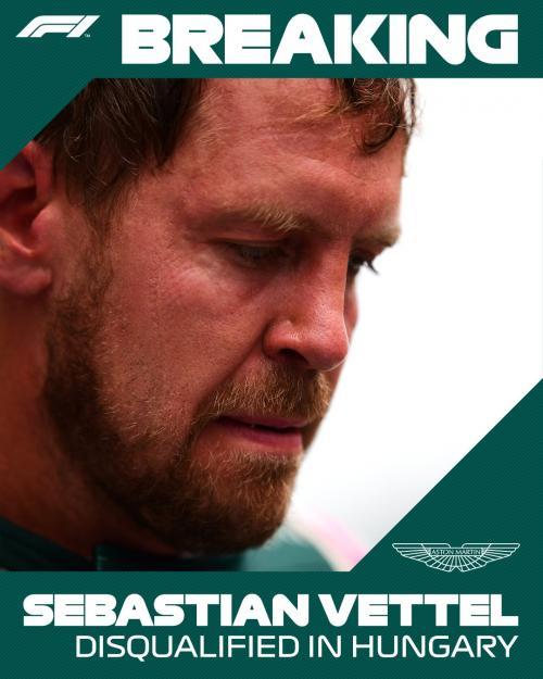 Sebastian Vettel didiskualifikasi