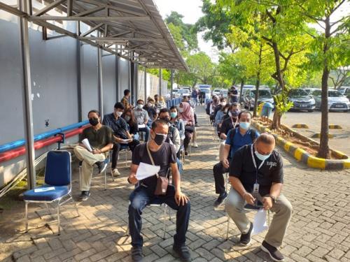 Sentra Vaksinasi MNC Peduli bersama MNC Vision Networks. (Foto: Nandha Aprilia/MPI)