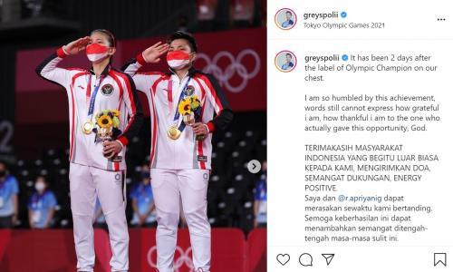 Greysia Polii/Apriyani Rahayu di Olimpiade Tokyo 2020