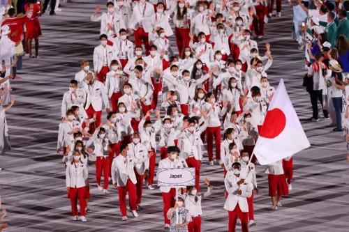 Kontingen Jepang di Olimpiade Tokyo 2020. (Foto: Reuters)