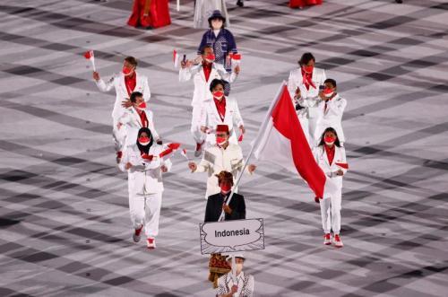 Kontingen Indonesia di Olimpiade Tokyo 2020. (Foto: Reuters)