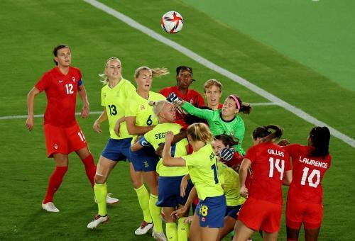 Swedia vs Kanada (Foto: Reuters)