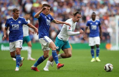 Leicester City saat hadapi Man City