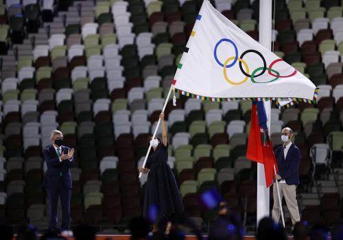 Upacara penutupan Olimpiade Tokyo 2020 (Foto: Reuters)