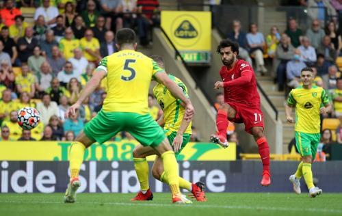 Laga Norwich City vs Liverpool. Foto: Reuters