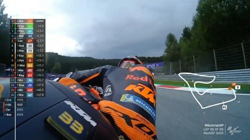Momen Valentino Rossi berada di urutan ketiga pada balapan MotoGP Austria 2021
