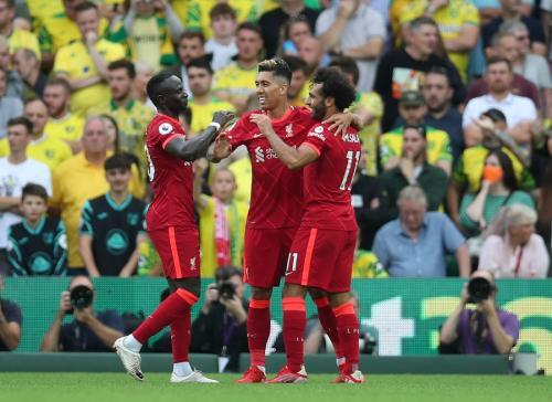 Liverpool bantai Norwich City 3-0 (Foto: Reuters)