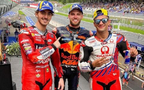 Podium MotoGP Austria 2021
